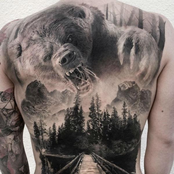 татуировки фото медведь
