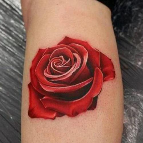 Татуировка красная роза значение