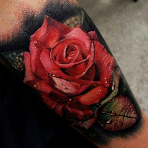 Тату красная роза значение